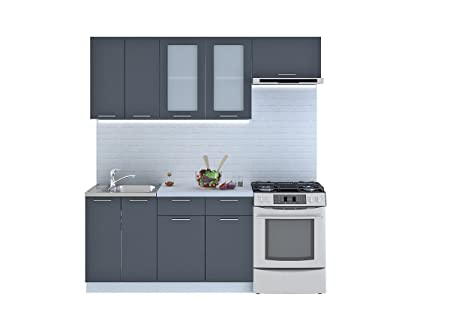 Cucina Valeria, blocco cucina da 200 cm: Amazon.it: Casa e ...