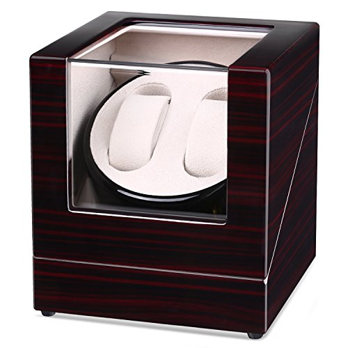 INTEY Double Automatic Watch Winder with Quiet Motor and Wood Shell,...