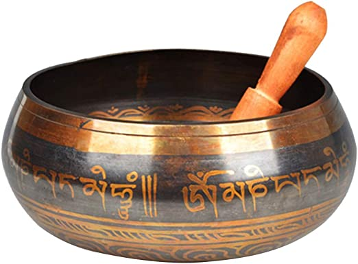 ... Reehut Tibetan Meditation Yoga Singing Bowl Set With Mallet /& Silk Cushion