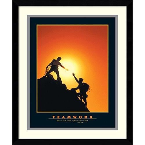 Cheap  Framed Art Print, 'Teamwork (Climbers)': Outer Size 15 x 18