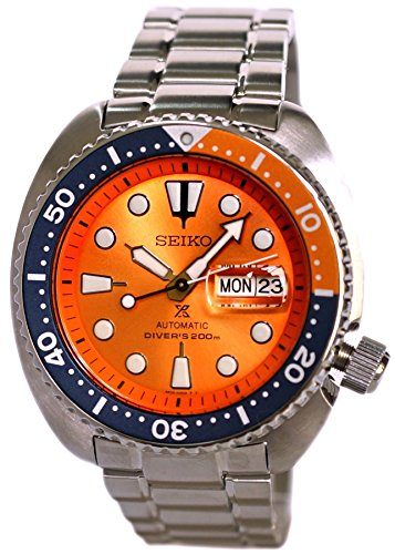 Orange Automatic Dial Divers (SEIKO PROSPEX Turtle Diver's 200M Automatic Watch Orange Dial SRPC95K1)