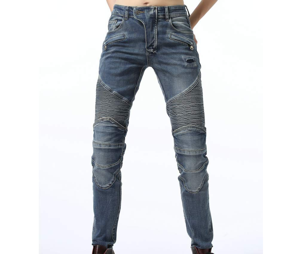 Pantalon Harley Pantalon De Moto Pantalon Femme Haut /Élastique Jeans Anti-Chute Xcomir Pantalon De Moto