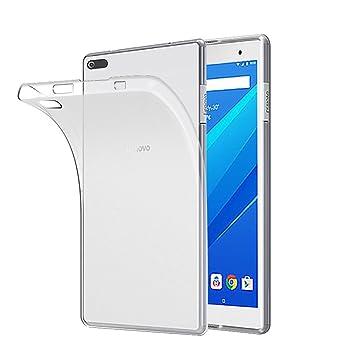 Funda Lenovo Tab 4 8, Gosento Funda Carcasa Bumper Case Lenovo Tab4 8 Silicona Gel TPU Slim Silicona Carcasa para Lenovo Tab 4 8 (Transparente Blanco)