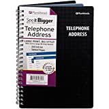 PlanAhead See It Bigger Telephone/Address Book; Large Print With Tabbed Pages; Assorted Colors