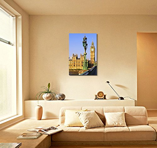Houses of Parliament with Big Ben in London from Westminster Bridge Wall Decor