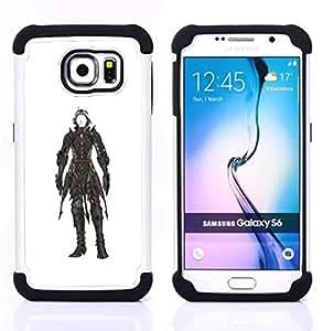 For Samsung Galaxy S6 G9200 - white black painting character hero Dual Layer caso de Shell HUELGA Impacto pata de cabra con im????genes gr????ficas Steam - Funny Shop -