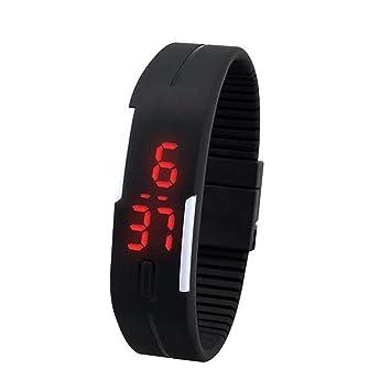 XuBa Fashion Sport - Reloj Digital con Pantalla táctil de Silicona, Color Dulce Negro Negro: Amazon.es: Informática