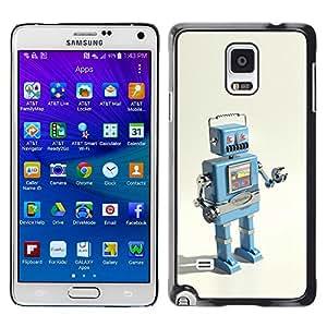 KOKO CASE / Samsung Galaxy Note 4 SM-N910F SM-N910K SM-N910C SM-N910W8 SM-N910U SM-N910 / robot ai technology it machine drawing / Slim Black Plastic Case Cover Shell Armor