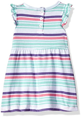 (U.S. Polo Assn. Baby Girls' Dress with Sweater or Jacket, Aurora Pink 6/9 Months)