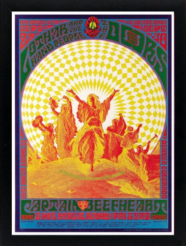 The Doors Psychedelic Concert Poster Framed