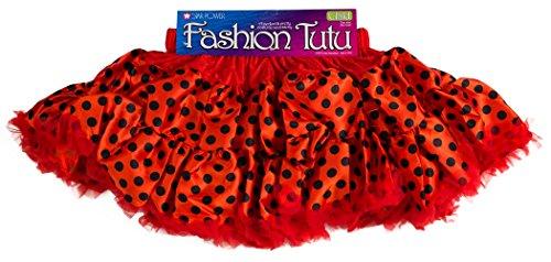 Loftus International Star Power Ladybug Princess Halloween Costume Tutu Skirt Red Black One-Size Novelty - Ladybug Skirt