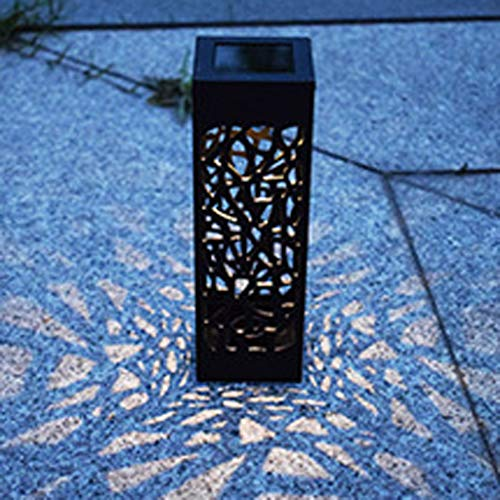 SAYEI LED Solar Power Buried Light Under Ground Lamp Outdoor Path Way Garden Decking Garden Lawn Yard Buried Light Festival Atmosphere Light Up Automatically at Night Retro Decoration Hollow Latern