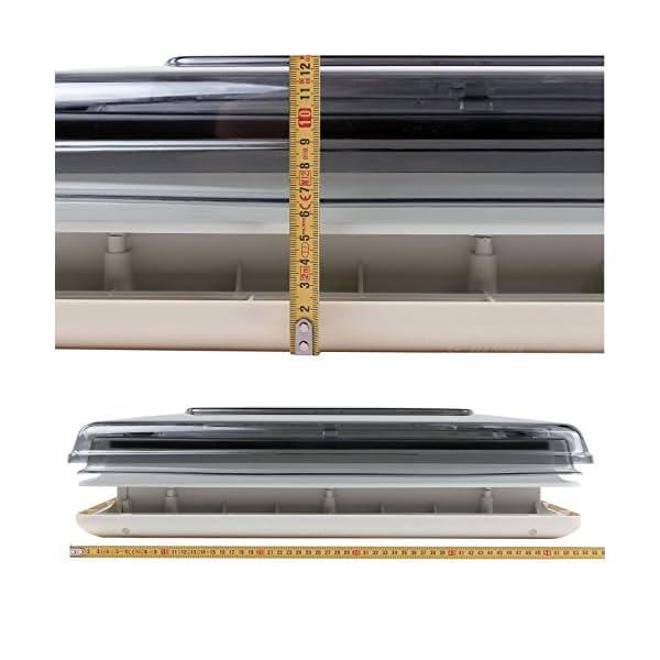 51y%2BMrzFmSL Fiamma Dachfenster Vent 50 Chrystal, 50 cm x 50 cm AuschnittmaàŸ + Deklain Dichtmittel + Schrauben