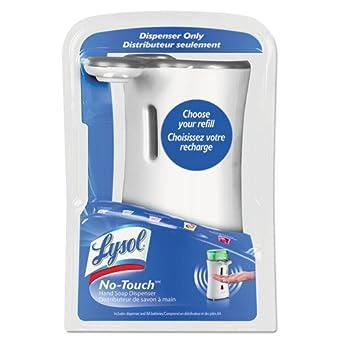 Lysol no-touch no-touch dispensador de jabón de la mano, - , plástico, blanco - un dispensador de jabón y tres pilas AA.: Amazon.es: Amazon.es