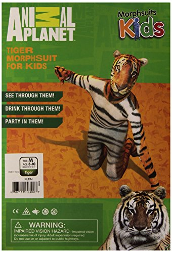Morphsuits Tiger Kids Animal Planet Costume - Size Medium 3'6-3'11 (105cm-119cm) -