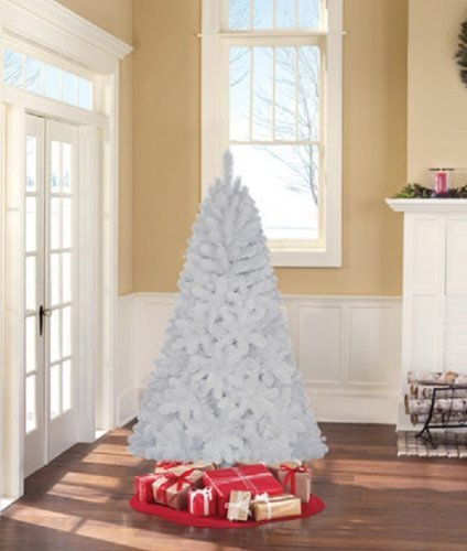 Holiday Time Unlit 6.5 Jackson Spruce White Artificial Christmas (Lit White Spruce Christmas Tree)