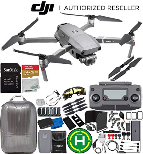 DJI Mavic 2 Pro Drone Quadcopter with Hasselblad Camera 1″ CMOS Sensor 1-Battery 64GB Ultimate Bundle