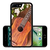 Liili Premium Apple iPhone 7 Plus Aluminum Backplate Bumper Snap Case iPhone7 Plus IMAGE ID 32173876 Old acoustic guitar and spring flowers on the table