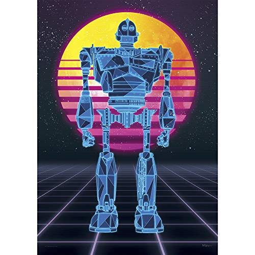 Ready Player One - Iron Giant - 1980s Style Neon Art - OASIS - Unique Nostalgic MightyPrint Wall Art - NOT MADE OF PAPER - Movie Collectible