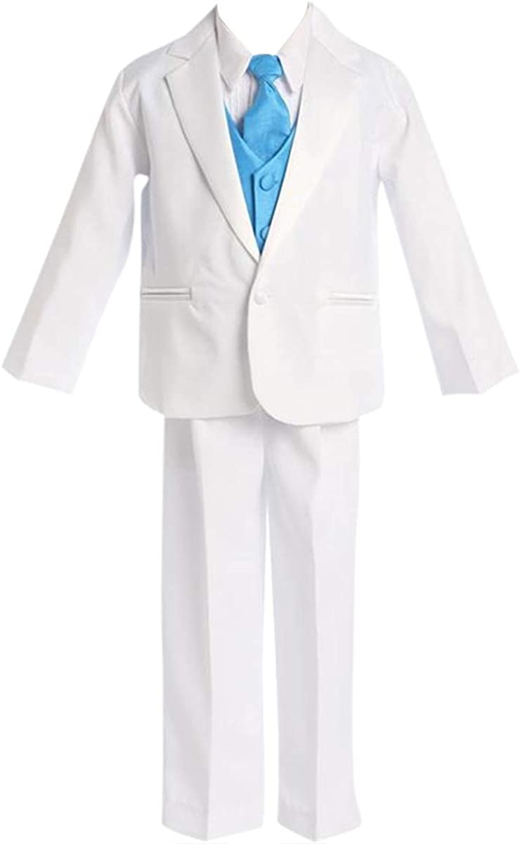 HBDesign Boys3 Piece Double Breasted Jacket Pant Vest Slim Fit Party Suit