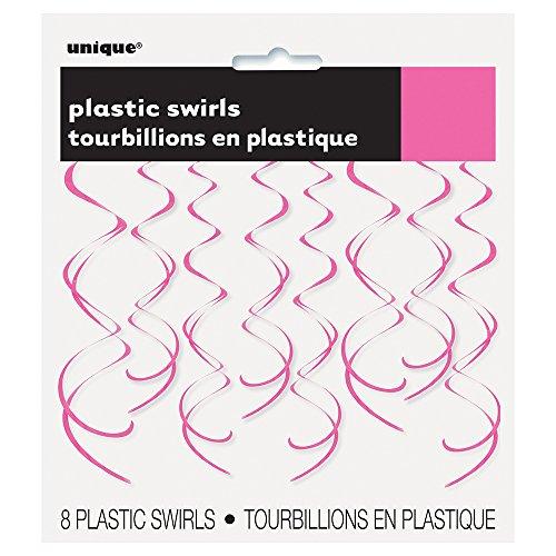 Plastic Hanging Swirl Pink Decorations