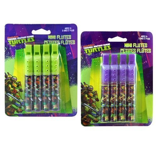[Teenage Mutant Ninja Turtles 4pk Mini Flutes] (Nickelodeon Teenage Mutant Ninja Turtles Treat Bags)