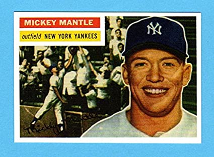 Mickey Mantle 1956 Topps Baseball Reprint Card Mvp Year