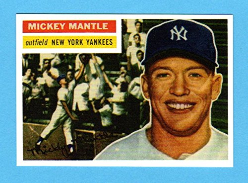 Mickey Mantle 1956 Topps Baseball Reprint Card ***MVP YEAR*** - Baseball Topps 1956
