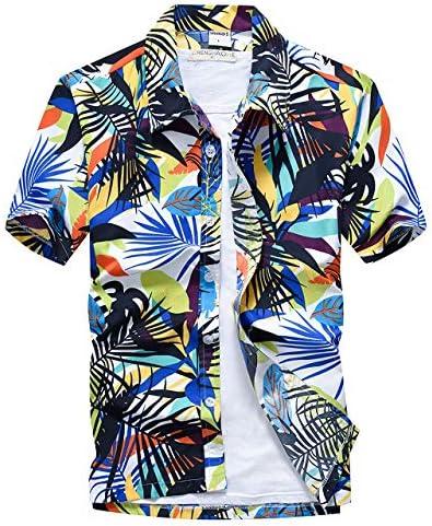 TERA Dream- アロハシャツ メンズ 半袖 ハワイ風 プリントシャツ 通気速乾 軽量 総柄 シャツ 夏 ビーチ ウェディング ウエア オシャレ