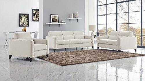Natuzzi Mattia Stationary Fabric Sofa, cream Maestrale 68.0036.01