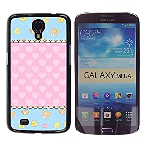 - Cute Girly Lovely - - Hard Plastic Protective Aluminum Back Case Skin Cover FOR Samsung Galaxy Mega 6.3 i9200 i9208 Queen Pattern