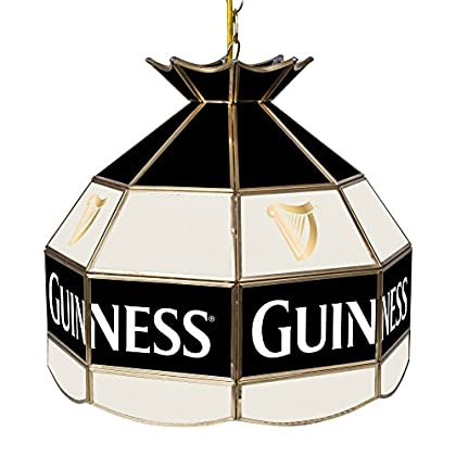Image of Billiard Lighting Trademark Gameroom Guinness 16' Handmade Tiffany Style Lamp