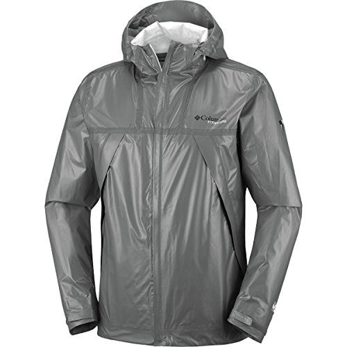Jacket Bamboo Mens - Columbia Titanium Outdry Ex Eco Shell Jacket - Men's Bamboo Charcoal, M
