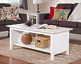build a coffee table Atlantic Furniture AH15302 Nantucket Coffee Table White