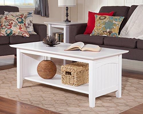 Atlantic Furniture AH15302 Nantucket Coffee Table White