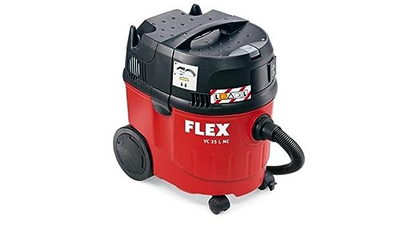 Flex VC 35 L MC - Aspiradora (1380 W, Aspiradora de tambor, Combinado, Negro, Rojo, 34 L, 19 L): Amazon.es: Hogar