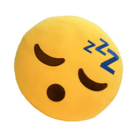 Magideal New Sleepy Emoji Emoticon Round Cushion Pillow Stuffed