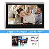 10.1'' Headrest Monitor DVD Player, OUTAD Ultra-thin 1080P TFT LCD Screen with Digital Touch Button, HDMI USB SD Port