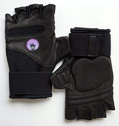 (Wrist Assured Gloves Fusion Style - Gel Padded Gloves, Workout Gloves with Wrist Support, Yoga Gloves, Strength Training Gloves (Medium))