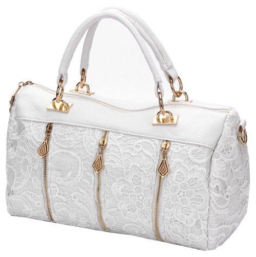 fb8a779ddea5 ANDI ROSE Women Designer PU Leather Tote Handbags Purses Shoulder Clutch  Hobo Bag (ANDI ROSE White) - Buy Online in Oman.