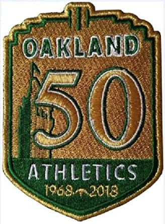 best service a2d95 65e20 Baseball A's 50TH Anniversary Patch Team Style Jersey Patch World  SERIESPRE-Order Item - Shipping Begins August 28TH Oakland