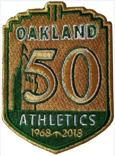 Baseball A's 50TH Anniversary Patch Team Style Jersey Patch World SERIESPRE-Order Item - Shipping Begins August 28TH Oakland