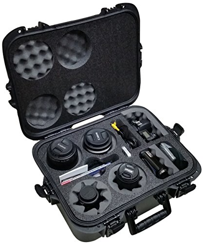 Case Club Waterproof DSLR 4 Lens Camera Case by Case Club