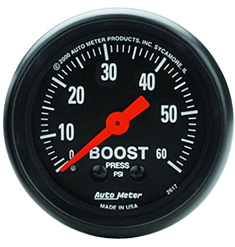 Auto Meter 2617 Z-Series Mechanical Boost Gauge - Mechanical Boost