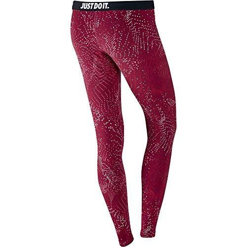 Nike W NSW LEG-A-SEE LGGNG AOP - Leggins Rot - S - Damen
