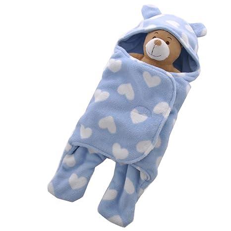 Saco de dormir para bebé, caricatura de terciopelo coral otoño e invierno saco de dormir