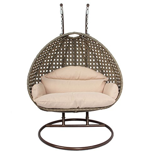 Island Gale Outdoor Patio Furniture Luxury Single 2 Person Wicker Egg Shaped