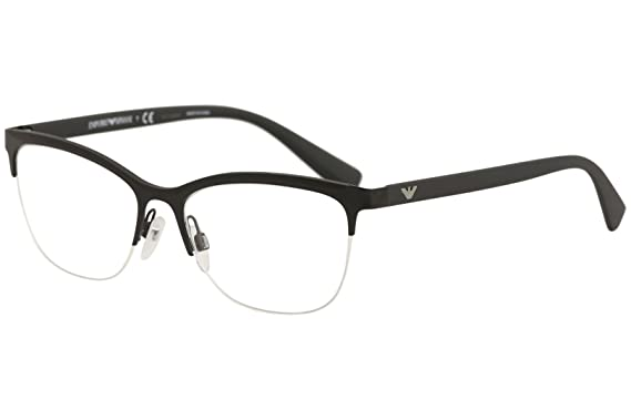 1c03c65ad3ca Emporio Armani Eyeglasses EA1068 EA 1068 3001 Matte Black Optical Frame 53mm