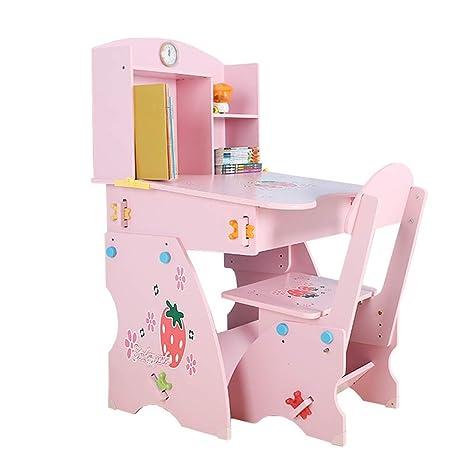 Amazon Com Jeterndy Kids Desk Chair Sets Girls Pink Desk