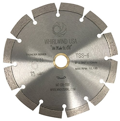 Whirlwind USA TSS 6-inch Laser Welded Dry or Wet General Purpose Standard Power Saw Segmented Diamond Blades (Factory Direct Sale) (6
